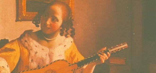 フェルメール ギターを弾く女